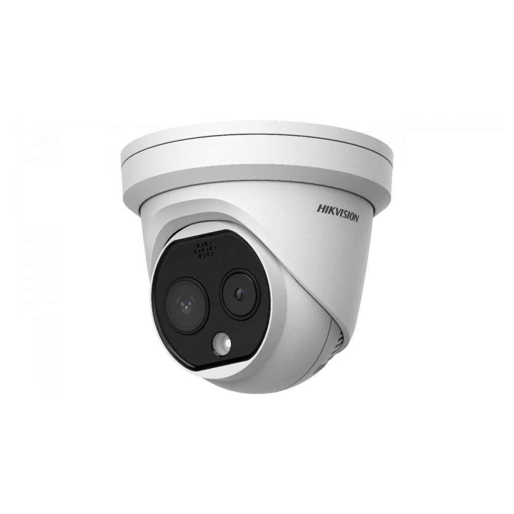 Camera supraveghere termica IP Dome Hikvision DS-2TD1217B-6/PA, 4 MP, masurare temperatura umana, precizie 0.5 grade imagine spy-shop.ro 2021