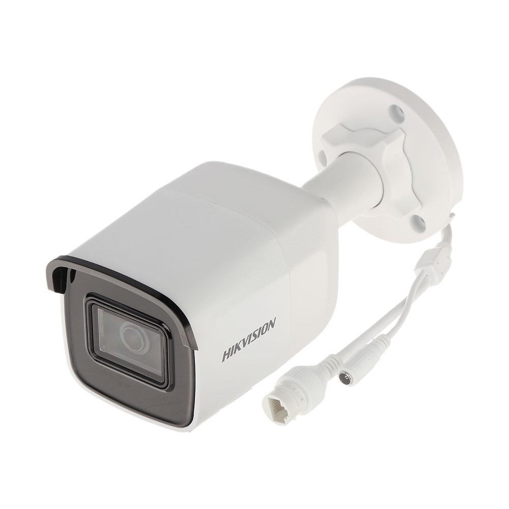 Camera supraveghere IP exterior Hikvision DarkFighter DS-2CD2065FWD-I, 6 MP, IR 30 m, 2.8 mm, slot card imagine
