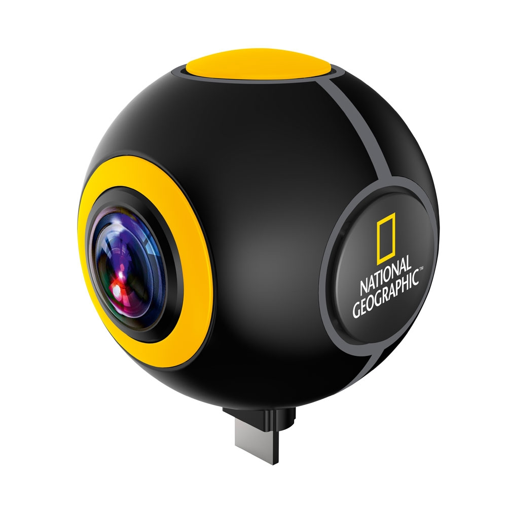 Camera video pentru sportivi National Geographic 9683100, 2 MP, 360 grade, streaming imagine spy-shop.ro 2021