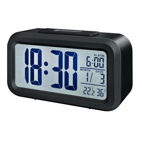 Statie meteo Bresser MyTime Duo 8010010, termometru, higrometru, alarma, negru