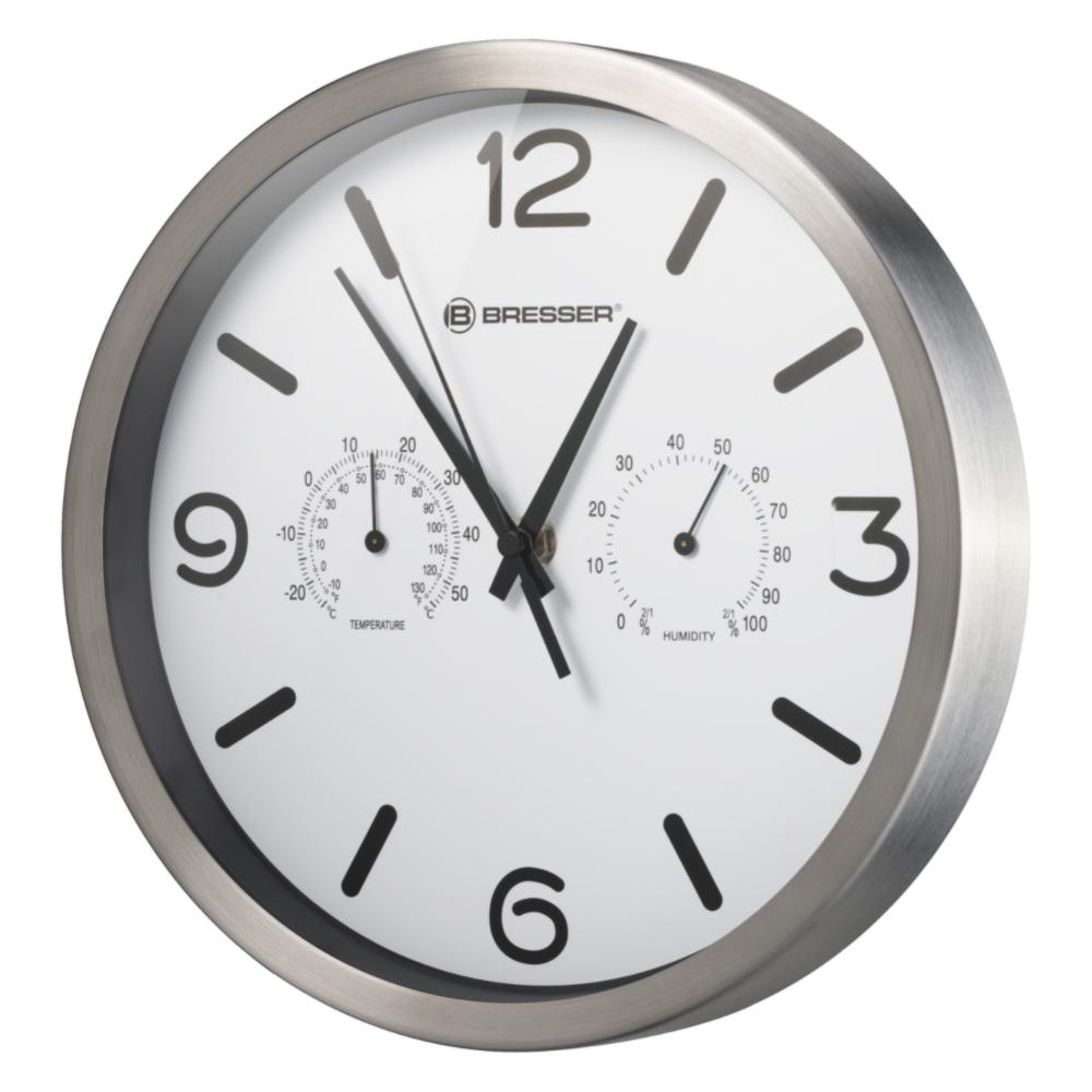 Ceas de perete Bresser MyTime 8020315GYE000, termometru, alb