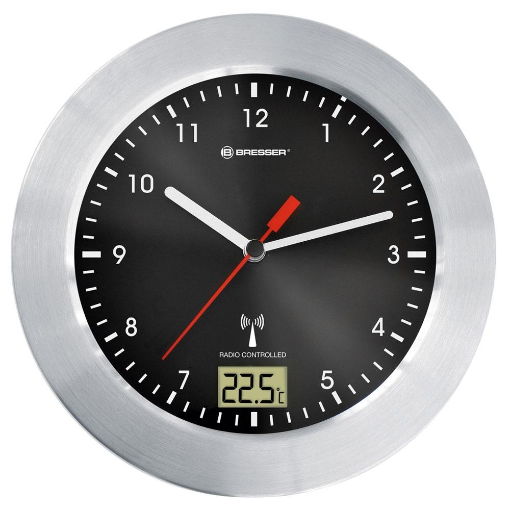 Ceas de perete cu termometru Bresser MyTime RC 8020113