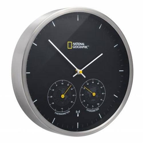 Ceas de perete National Geographic 9066500, termometru, higrometru