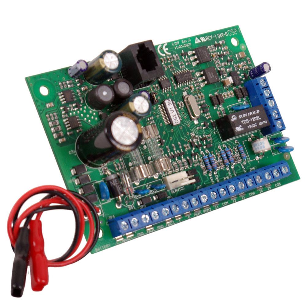 Centrala alarma antiefractie CERBER C52 PCB, 2 partitii, 5 zone, 30 utilizatori imagine spy-shop.ro 2021