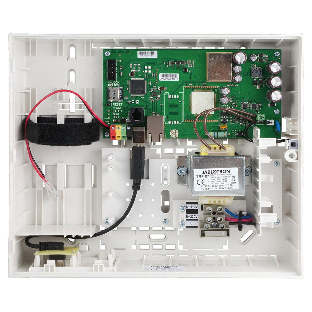 Centrala alarma antiefractie cu modul LAN Jablotron JA-100K, 4 partitii, 32 dispozitive, 7.000.000 evenimente imagine