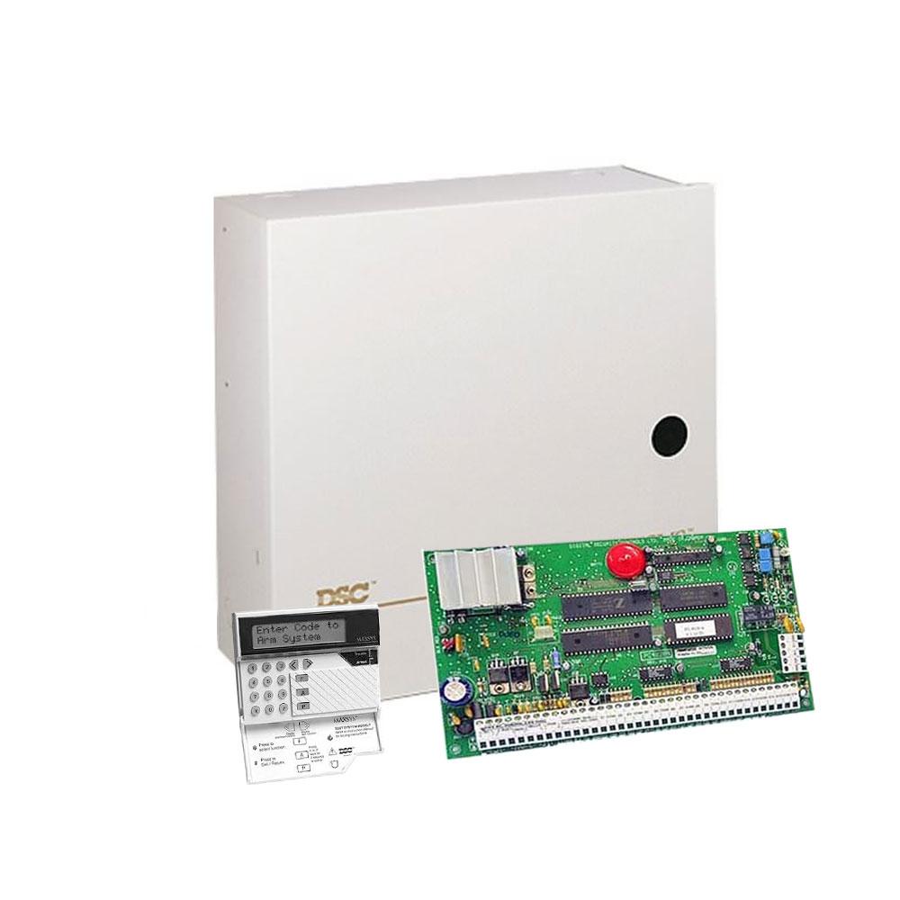 Centrala alarma antiefractie DSC Maxsys PC 4020 cu tastatura LCD4500 si cutie metalica, 8 partitii, 16 zone, 1500 utilizatori imagine spy-shop.ro 2021
