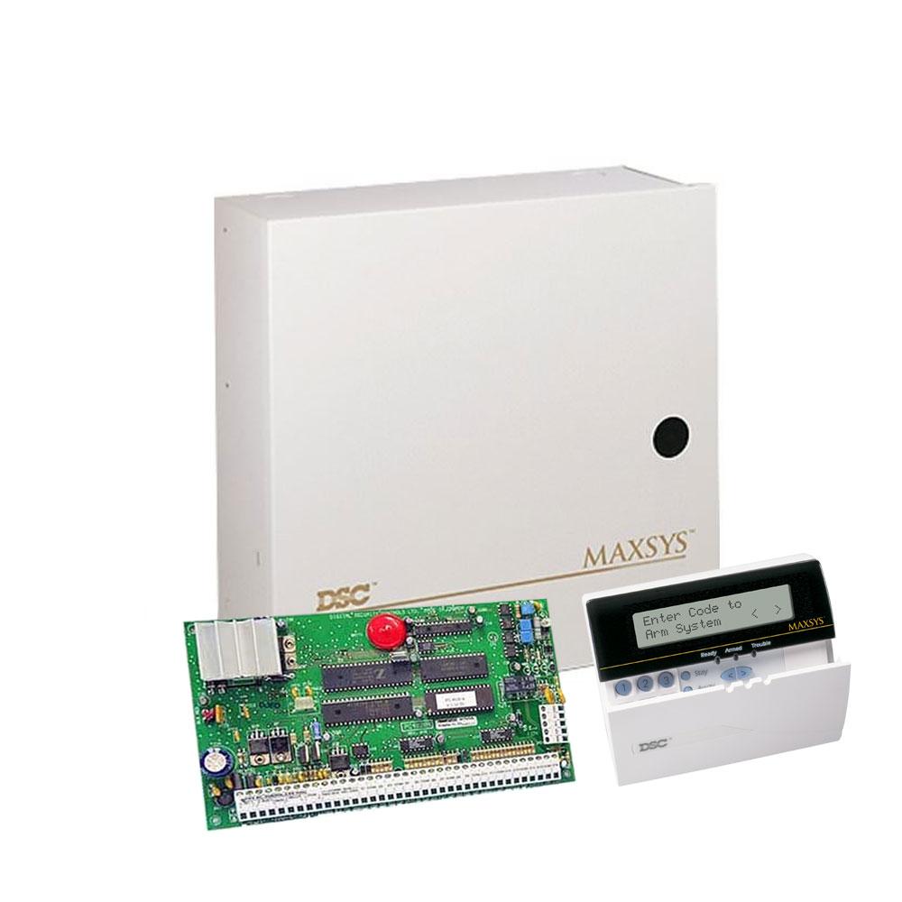 Centrala alarma antiefractie DSC Maxsys PC 4020A cu tastatura LCD 4501 si cutie metalica, 8 partitii, 16 zone, 1500 utilizatori imagine spy-shop.ro 2021