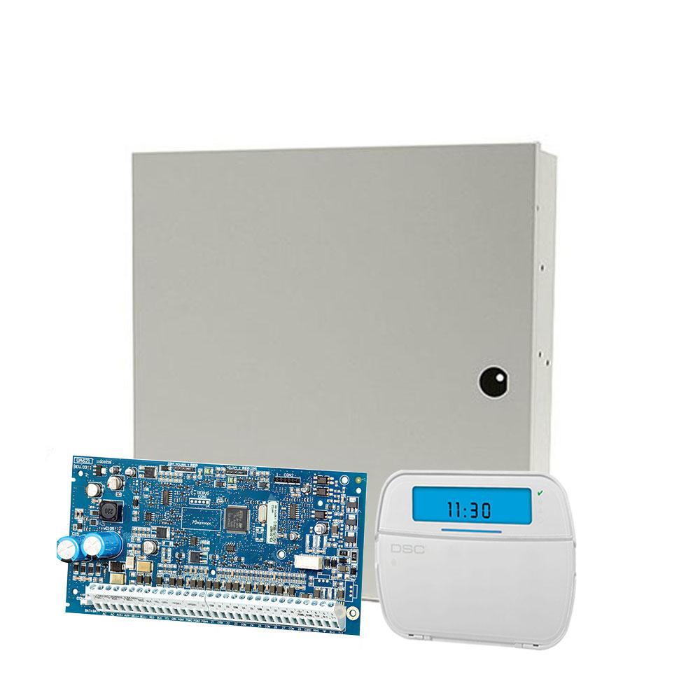Centrala alarma antiefractie DSC NEO-2016 cu tastatura NEO HS2ICON si carcasa PC5003, 2 partitii, 6 zone, 48 utilizatori imagine