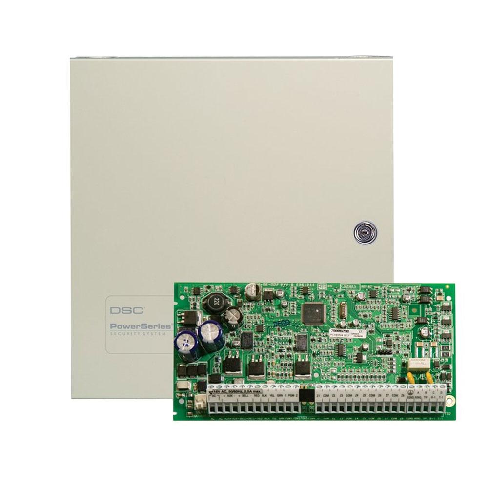 Centrala alarma antiefractie DSC Power PC 1832 cu cutie metalica, 4 partitii, 8-32 zone, 72 utilizatori imagine spy-shop.ro 2021
