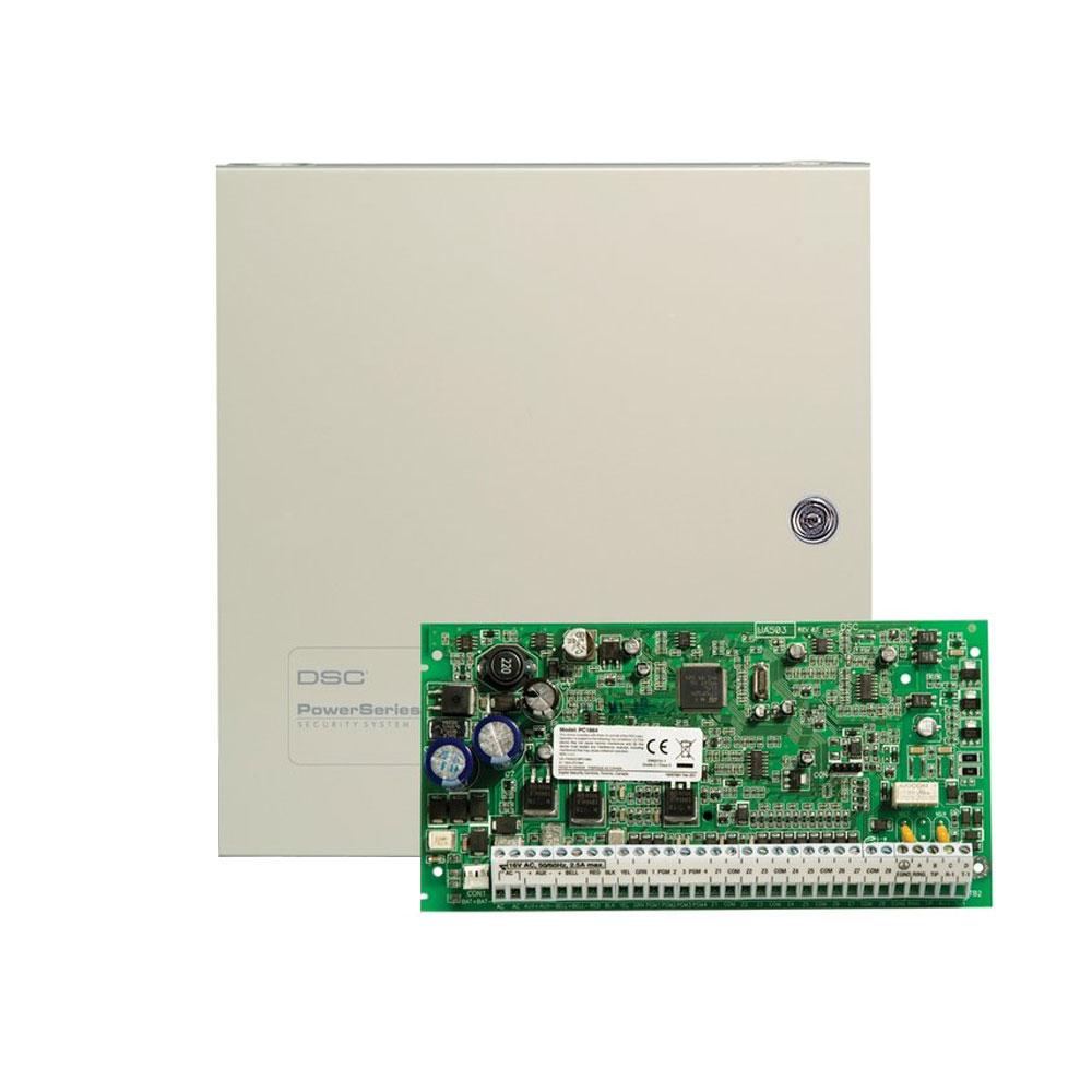 Centrala alarma antiefractie DSC Power PC 1864 cu cutie metalica, 8 partitii, 8-64 zone, 95 utilizatori imagine spy-shop.ro 2021