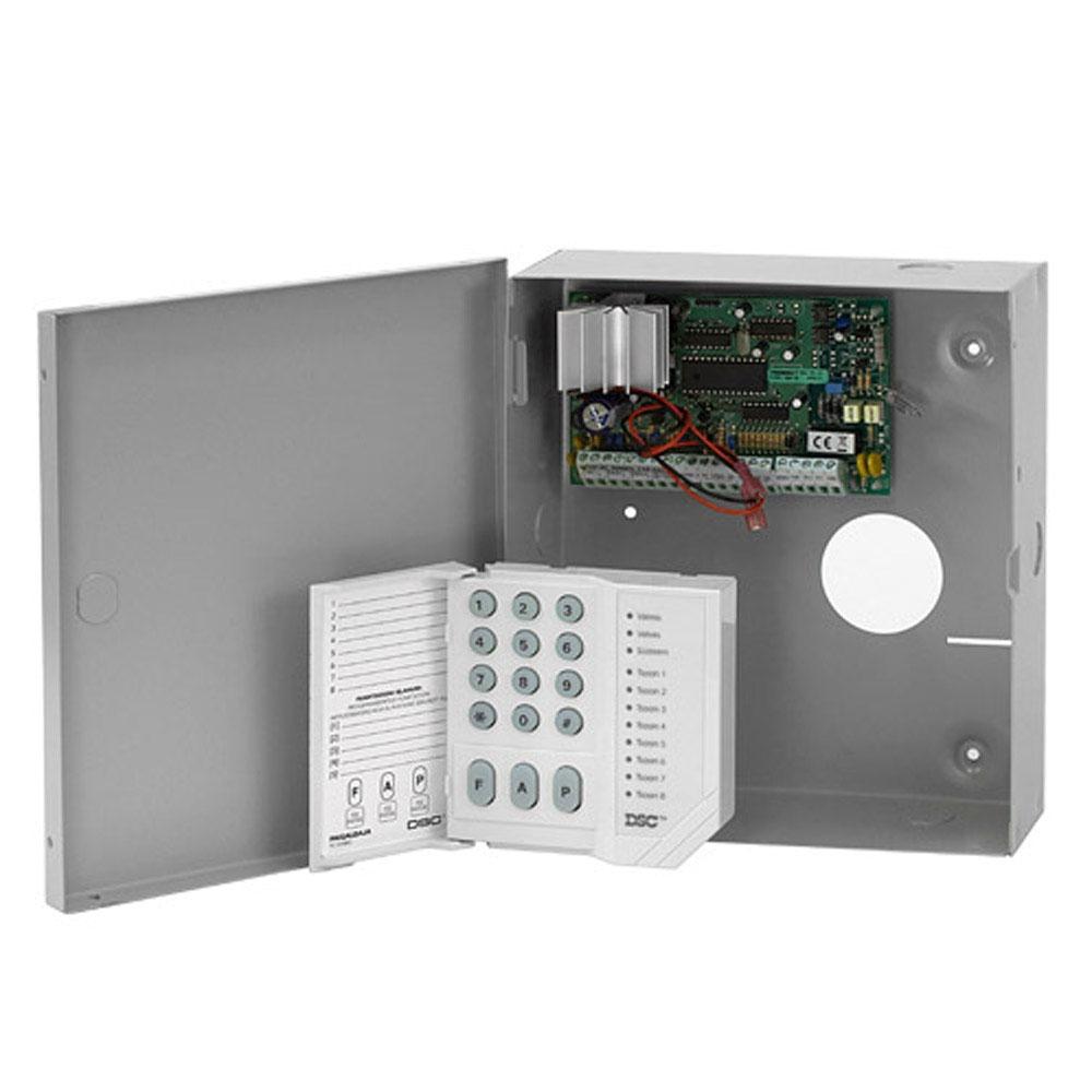 Centrala alarma antiefractie DSC Power PC 585 cu tastatura PC1555 si cutie metalica, 1 partitie, 4-32 zone, 38 utilizatori imagine spy-shop.ro 2021