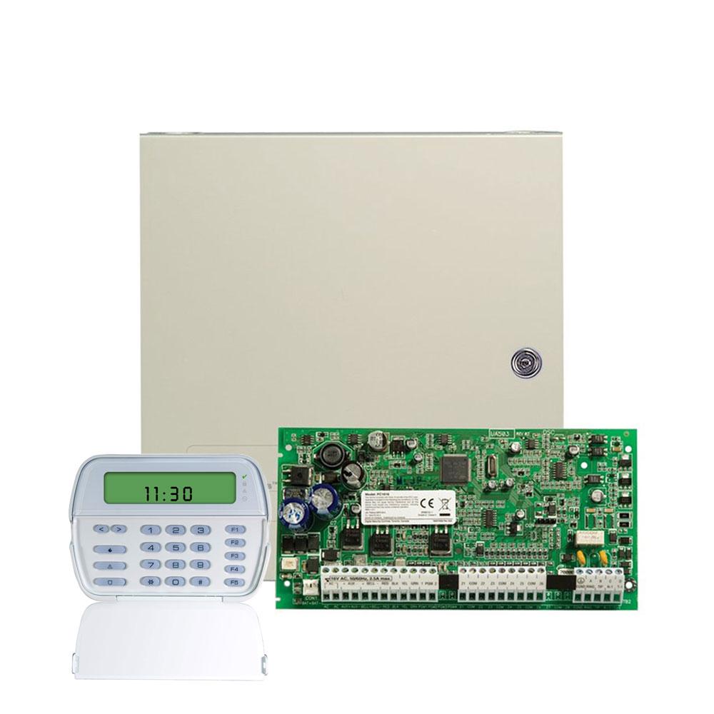 Centrala alarma antiefractie DSC Power PC 1616RFK cu tastatura RFK 5501, 2 partitii, 6 zone, 48 coduri utilizatori imagine