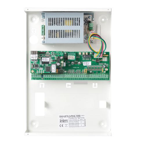 Centrala alarma antiefractie Inim SmartLiving 1050 cu cutie metalica cu traf, 10 partitii, 20 zone, 50 utilizatori imagine