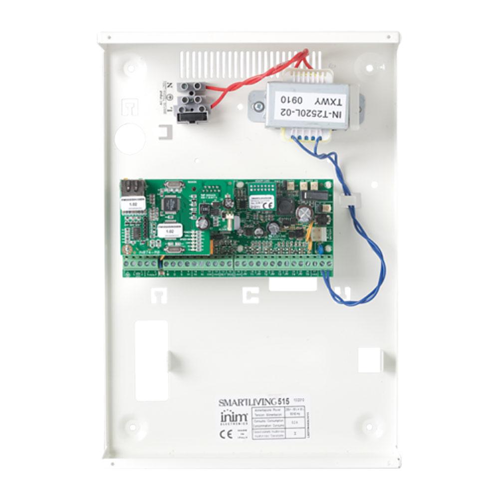 Centrala alarma antiefractie Inim SmartLiving 515 cu cutie metalica si traf, 5 partitii, 10 zone, 30 utilizatori imagine