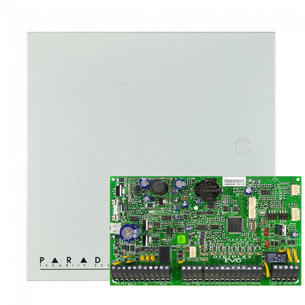 Centrala alarma antiefractie Paradox Digiplex EVO192 cu carcasa metalica cu traf, 8 partitii, max 192 zone, 999 utilizatori imagine spy-shop.ro 2021