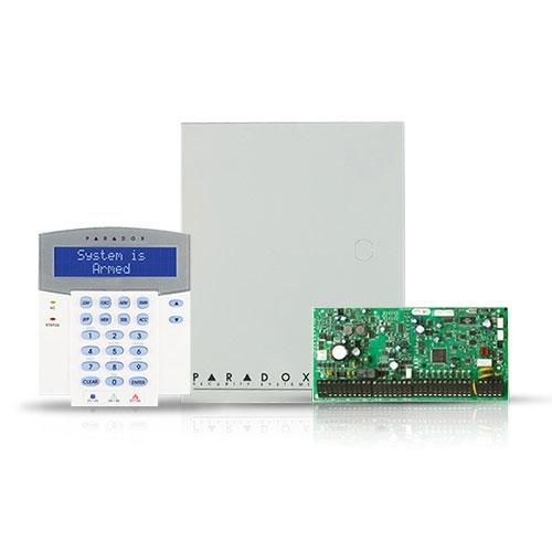Centrala alarma antiefractie Paradox Digiplex EVOHD cu tastatura K641LX si carcasa, 8 partitii, 8-192 zone, 5-32 PGM imagine