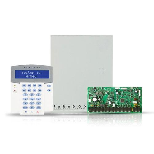 Centrala alarma antiefractie Paradox Digiplex EVOHD cu tastatura K641R si carcasa, 8 partitii, 8-192 zone, 5-32 PGM imagine