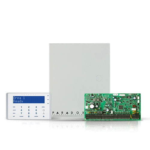 Centrala alarma antiefractie Paradox Digiplex EVOHD cu tastatura K656 si carcasa, 8 partitii, 8-192 zone, 5-32 PGM imagine