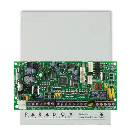 Centrala alarma antiefractie Paradox Spectra SP4000, carcasa metalica cu traf, 4 zone, 2 partitii, 256 evenimente imagine