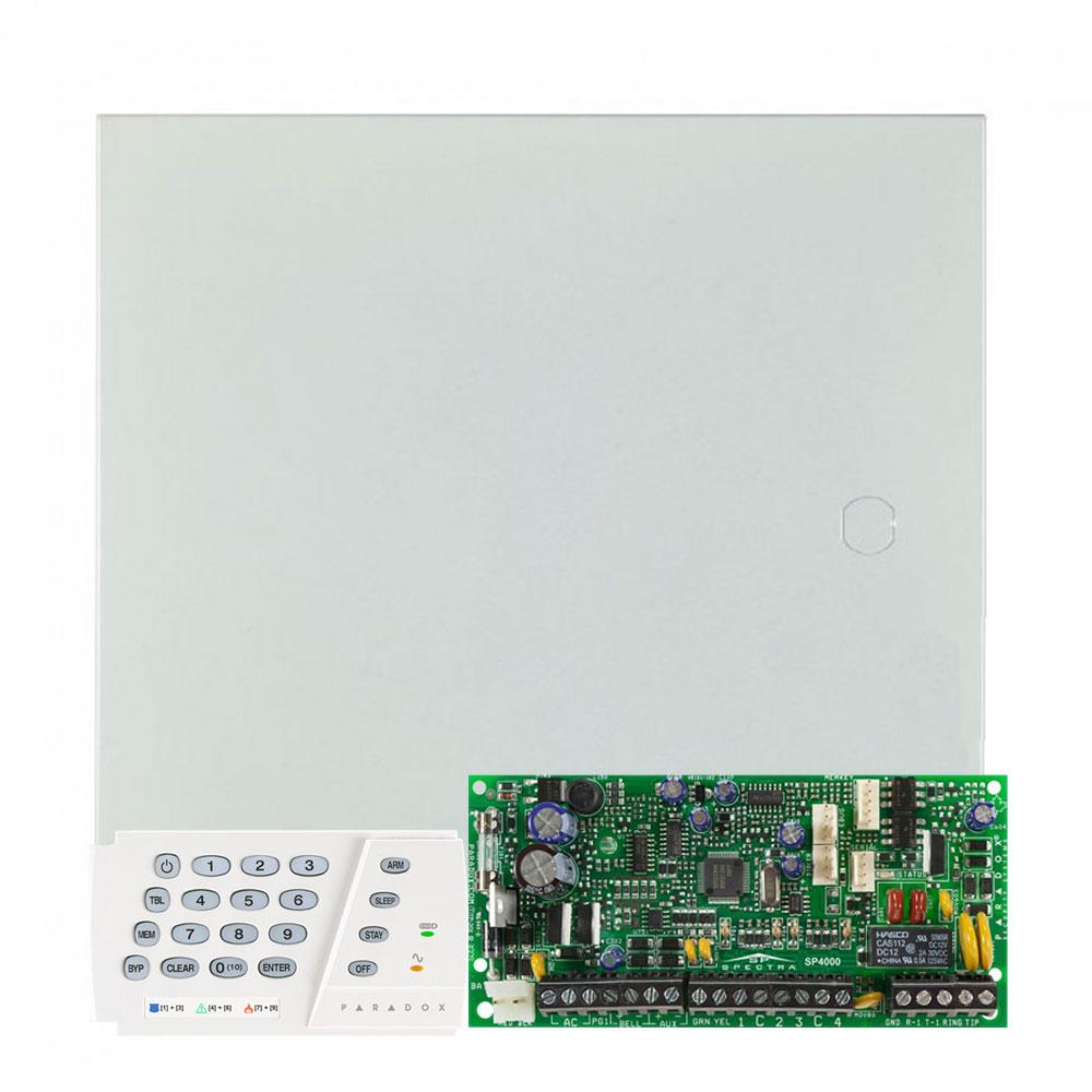 Centrala alarma antiefractie Paradox Spectra SP 5500 cu tastatura K636, 2 partitii, 5 zone, 32 utilizatori imagine
