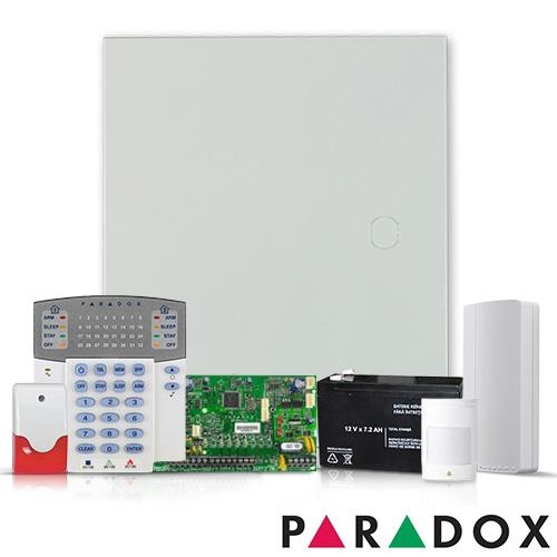 SISTEM ALARMA PARADOX SP 5500 + COMUNICATOR GPRS PCS 250G