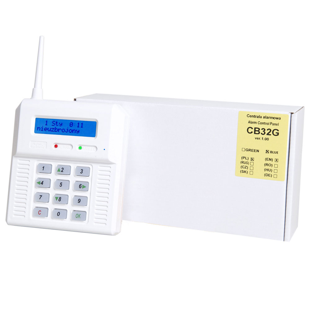 Centrala alarma antiefractie wireless cu modul GSM Elmes CB32GN, 1 partitie, 32 zone, 256 evenimente imagine spy-shop.ro 2021
