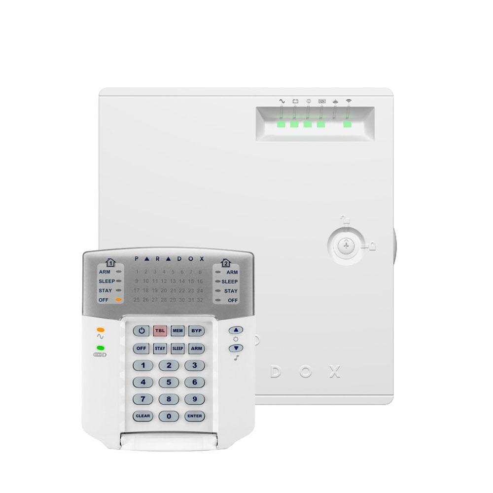 Centrala alarma antiefractie wireless Paradox Magellan MG5075 + tastatura K32+, 32 zone, 32 coduri utilizatori, 512 evenimente imagine