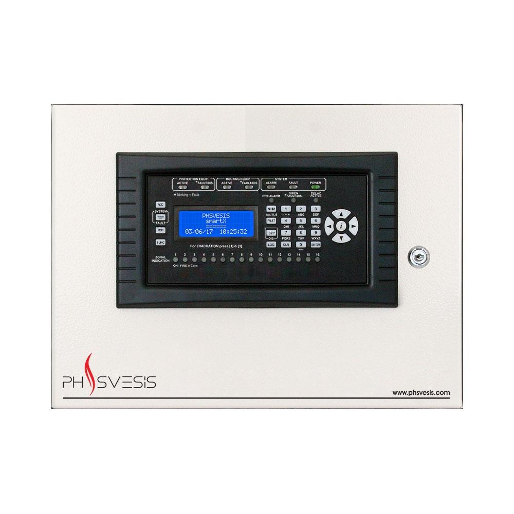 Centrala analog-adresabila PH Svesis SmartX 116 ESP, 1 bucla, 16 zone logice, 2000 evenimente imagine