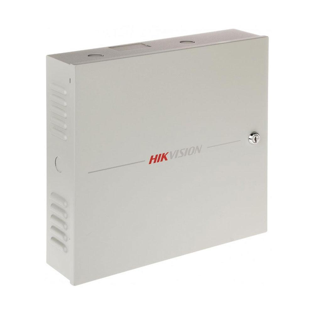 Centrala control acces Hikvision DS-K2604, Wiegand, 100.000 carduri, 300.000 evenimente, 8 iesiri, 4 usi, anti-passback