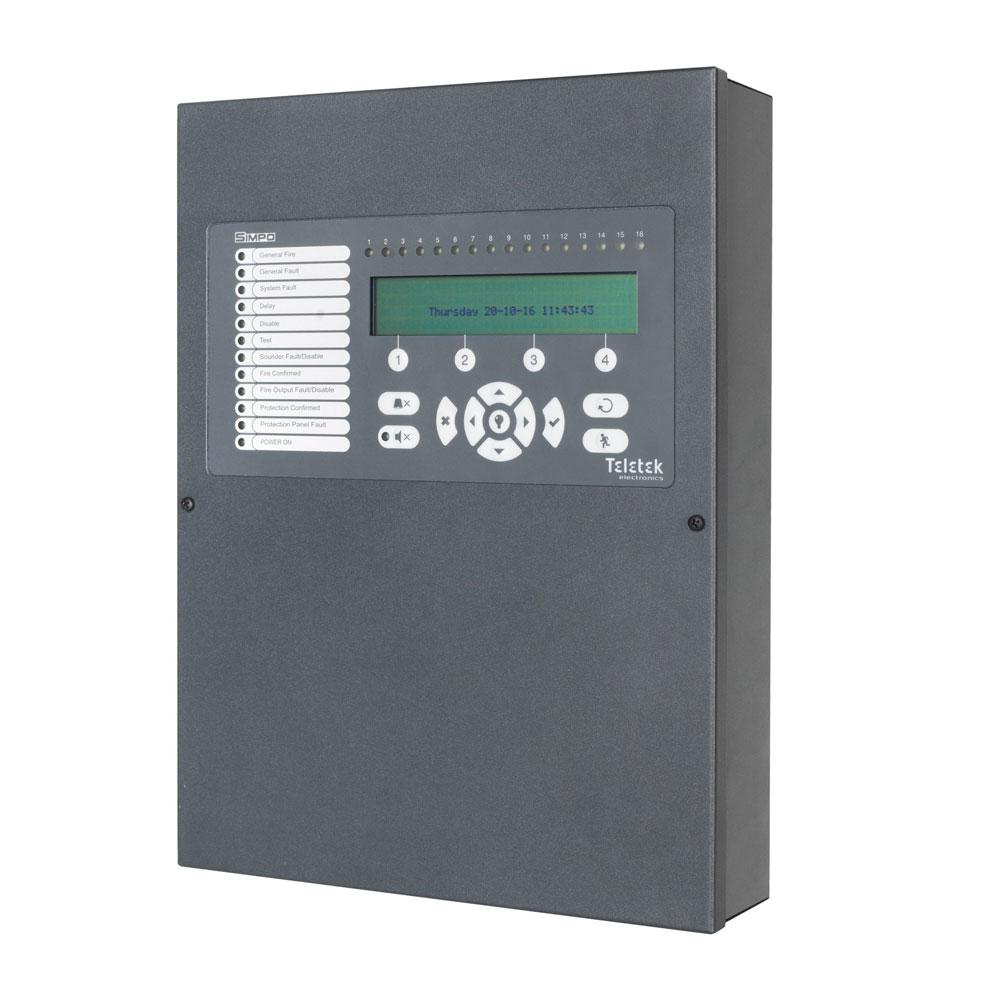 Centrala de incendiu adresabila 1-2 bucle Teletek SIMPO, 250/bucla, 48 zone, 10240 evenimente imagine