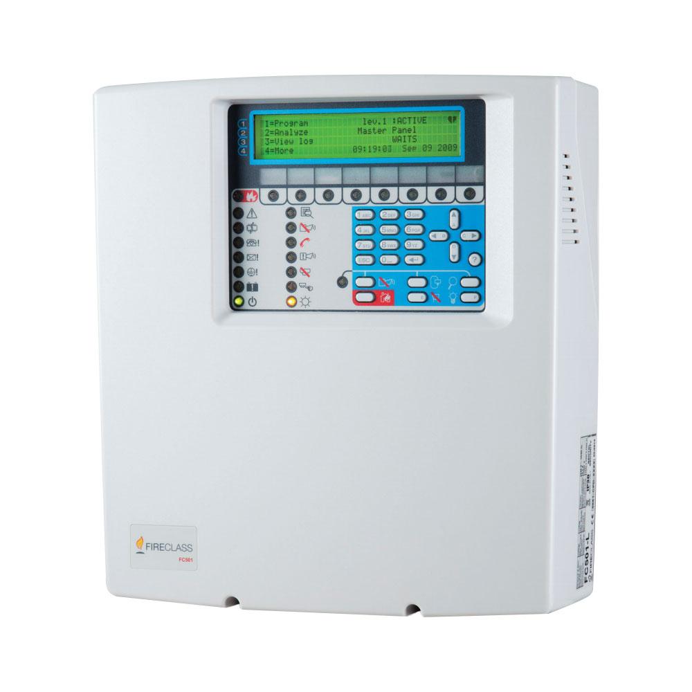 Centrala de incendiu adresabila cu 1 bucla FireClass FC501-H, 128 adrese, 32 zone, 2.5A, 12-38Ah imagine