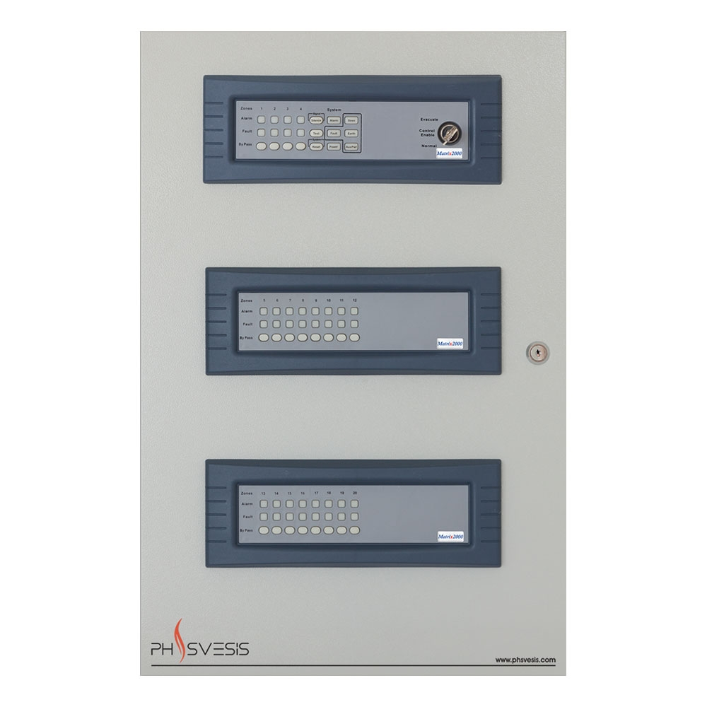 Centrala de incendiu conventionala 20 zone PH Svesis MATRIX2020R00TO, 20 detectori pe zona, functie IntelliZone imagine