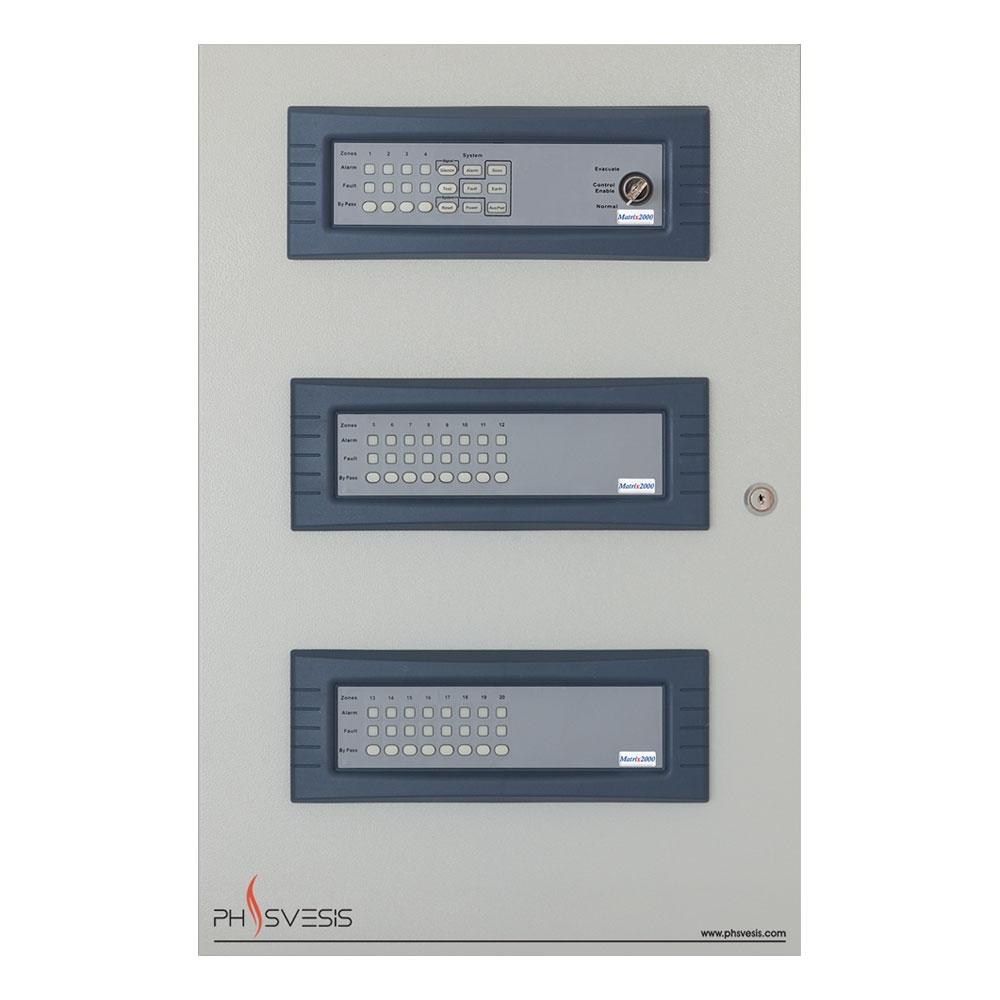 Centrala de incendiu conventionala 20 zone PH Svesis MATRIX2020R12TO, 12 iesiri de zona, 20 detectori pe zona, functie IntelliZone imagine
