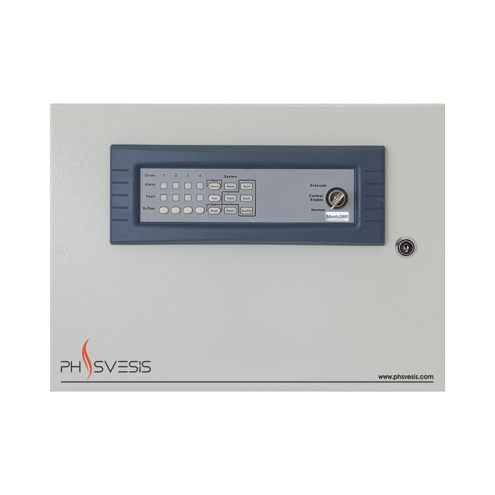 Centrala de incendiu conventionala 4 zone PH Svesis MATRIX2004R00TO, 20 detectori pe zona, functie IntelliZone imagine