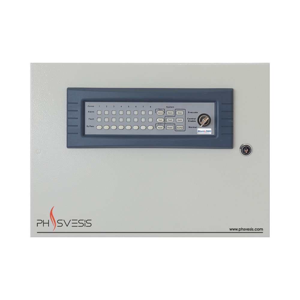Centrala de incendiu conventionala 8 zone PH Svesis MATRIX2008R00TO, 20 detectori pe zona, functie IntelliZone imagine