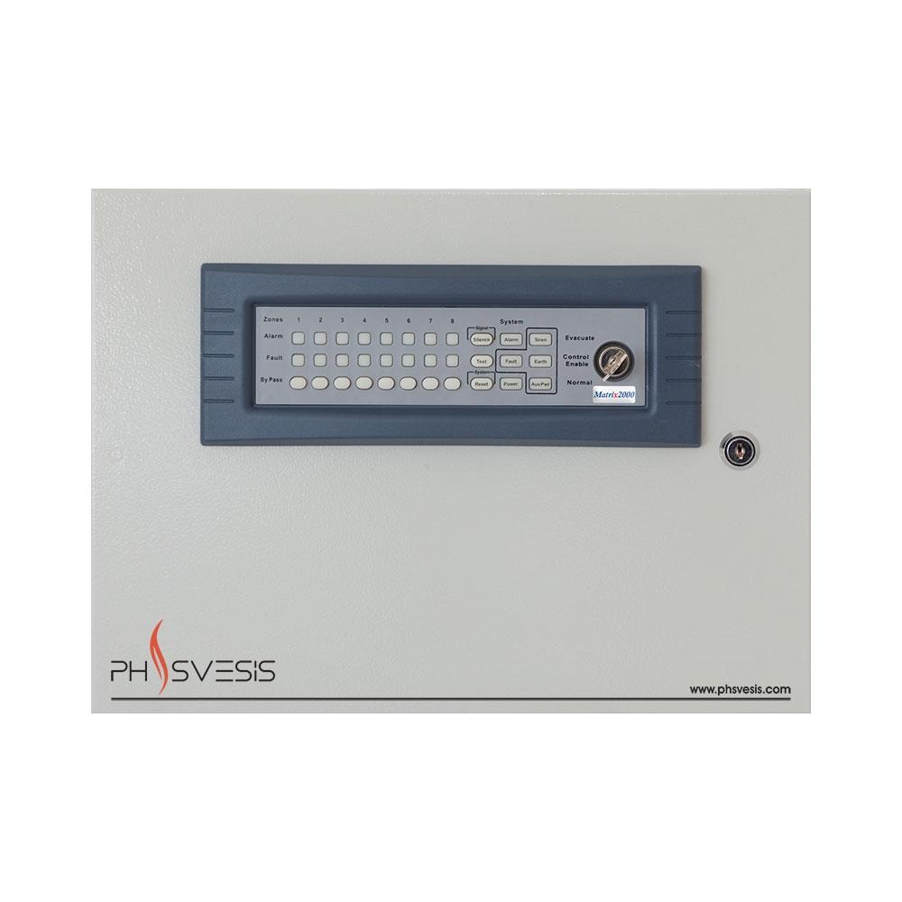 Centrala de incendiu conventionala 8 zone PH Svesis Matrix M2008-G8M, certificare ETL imagine