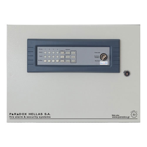 Centrala de incendiu conventionala 4 zone Paradox Hellas MATRIX 2004R00TO, 20 detectori/zona, 220 VAC imagine
