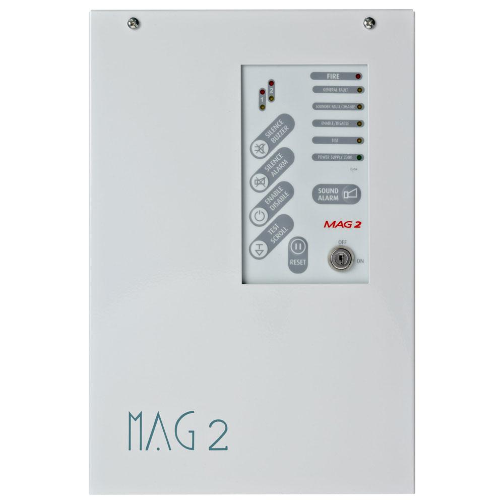 Centrala de incendiu conventionala 2 zone TELETEK MAG 2, 32 detectori/zona, 230 V imagine