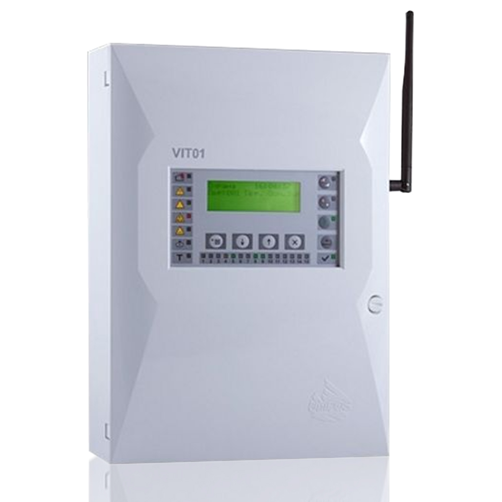 Centrala de incendiu wireless adresabila cu 15 zone Unipos VIT01 imagine