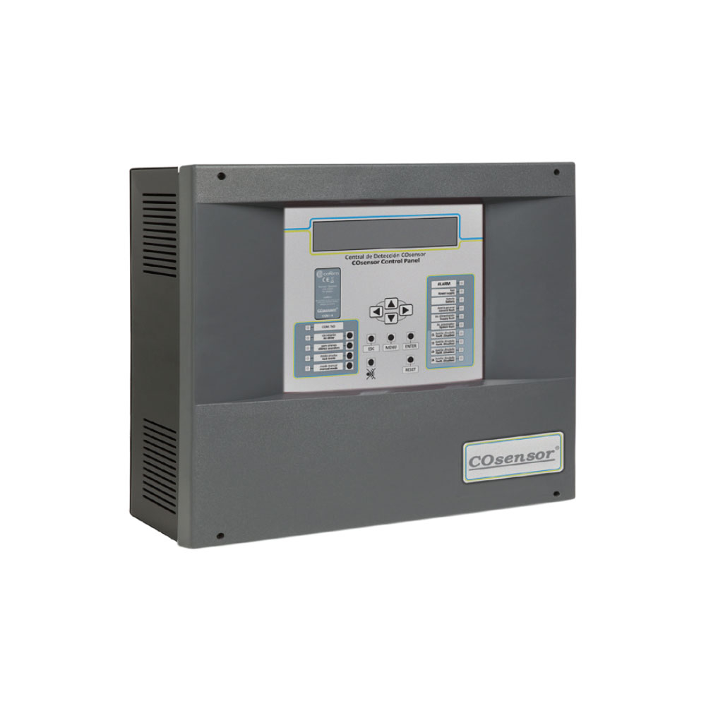 Centrala detectare CO si NO2 adresabila Cofem COsensor ZafirCO ZCO425DVB, 4 zone, 25 detectori/zona, LCD