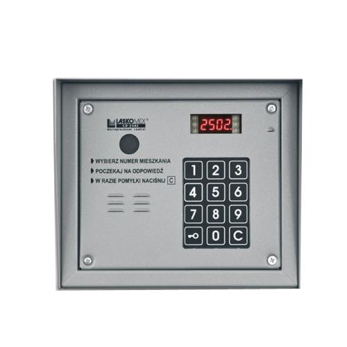 Centrala interfon de bloc Laskomex CP-2503, aparent, 255 posturi, 12 V