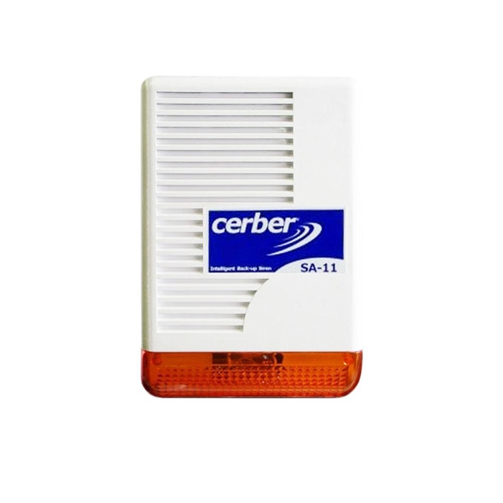 Sirena de exterior cu flash Cerber SA-11, 128 dB, tamper, IP34 imagine spy-shop.ro 2021