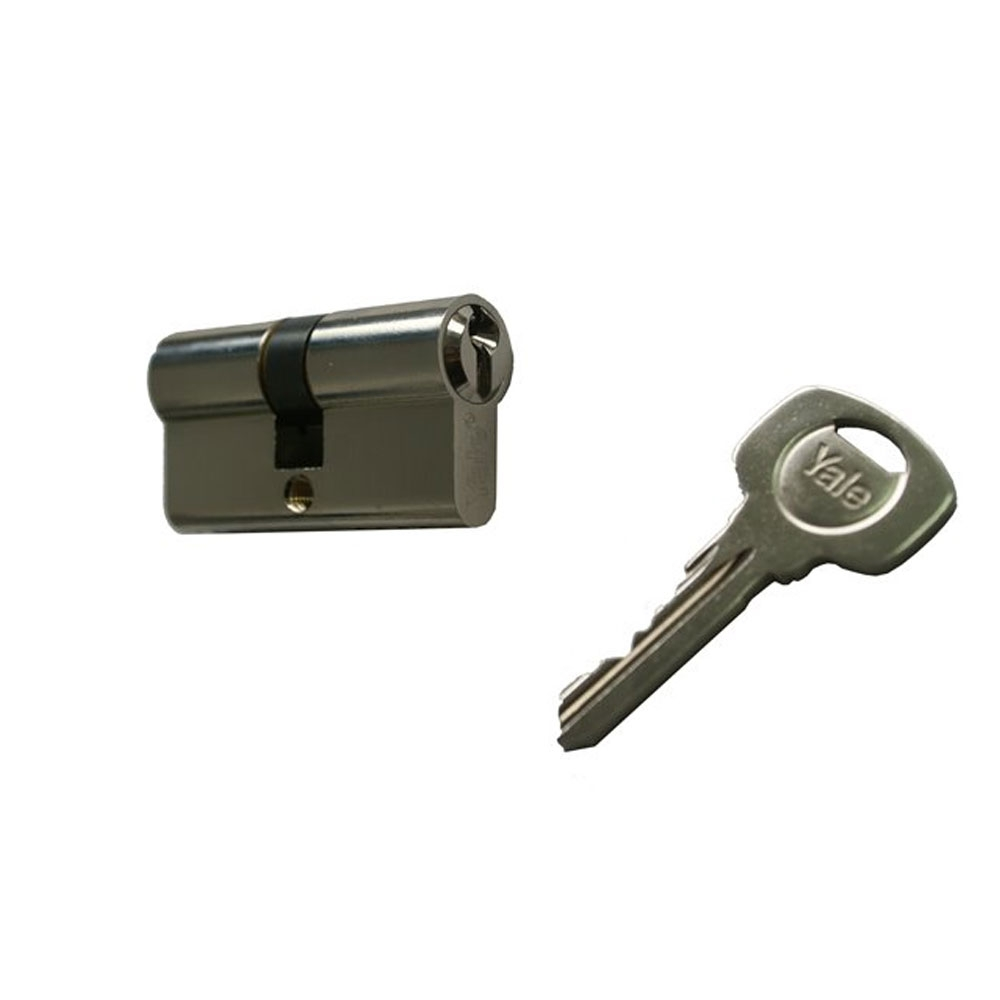 Cilindru de siguranta Standard Yale 500 A 01 FN 35X35, 3 chei, 5 pini, nichel imagine spy-shop.ro 2021