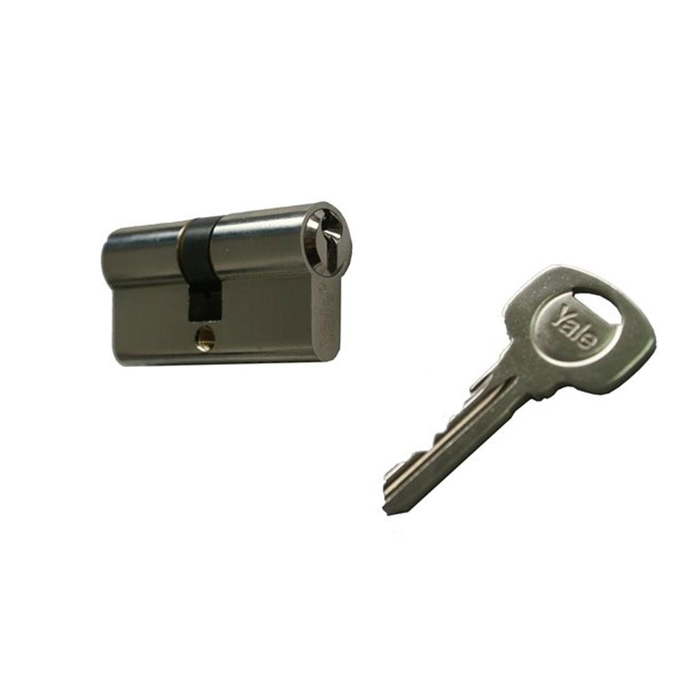 Cilindru de siguranta Standard Yale 500 A 01 FN 40X40, 3 chei, 5 pini, nichel imagine spy-shop.ro 2021