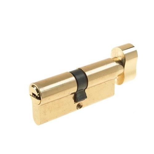 Cilindru siguranta patentat cu buton Yale 10-1803-3030-CK-0201, 5 chei, 6 pini, alama imagine spy-shop.ro 2021