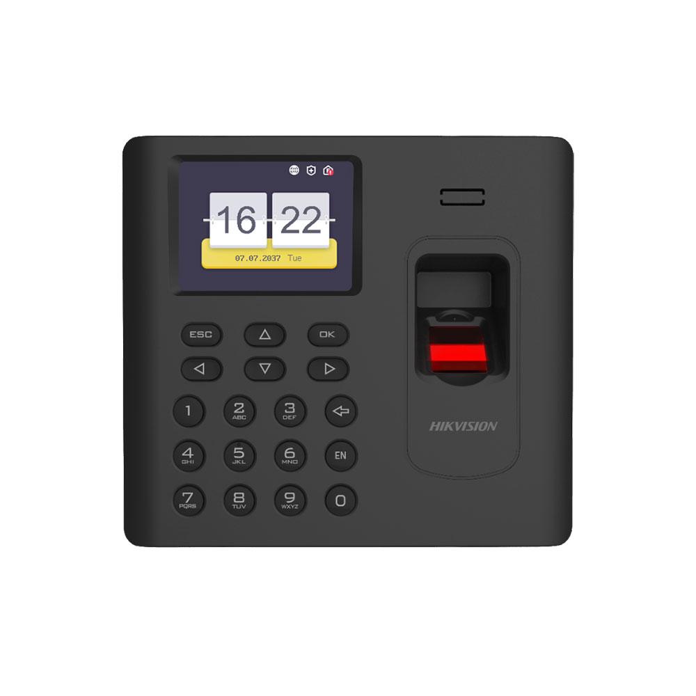 Cititor biometric de interior IP WiFi Hikvision DS-K1A802AF-B, 2.4 inch, 3.000 amprente, 100.000 evenimente