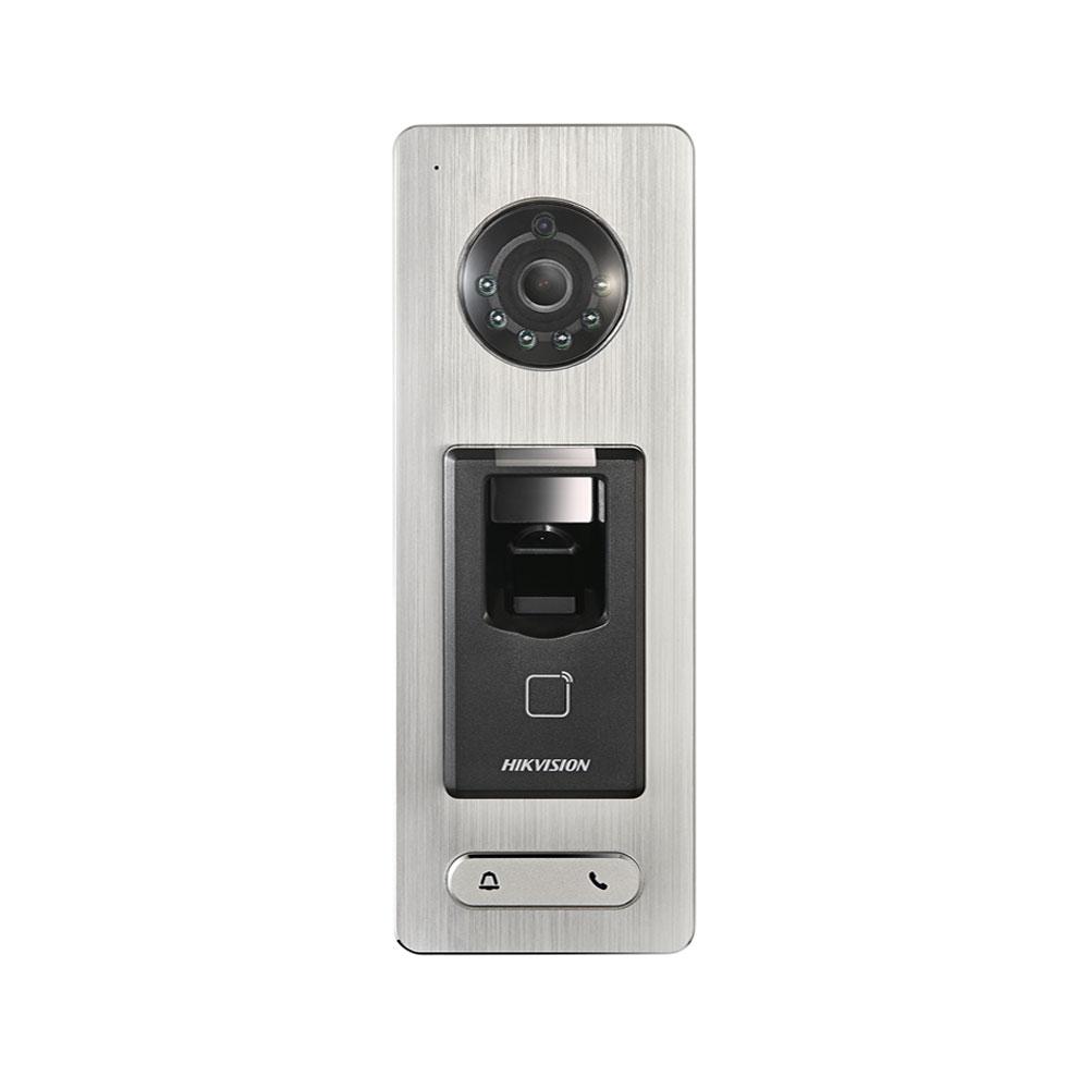 Cititor biometric IP Hikvision DS-K1T501SF, Mifare, IR, card/amprenta, 5.000 amprente, 50.000 carduri, 200.000 evenimente