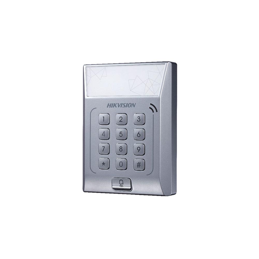 Cititor de proximitate cu tastatura Hikvision DS-K1T801E, PIN/card, EM, 3000 carduri