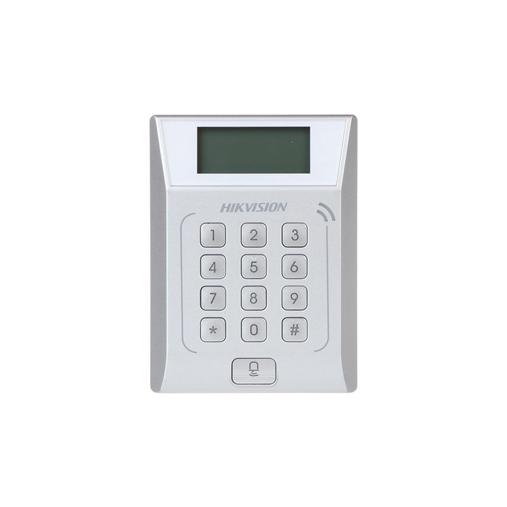 Cititor de proximitate cu tastatura IP Hikvision DS-K1T802E, PIN/card, EM, 3.000 carduri, 10.000 evenimente imagine spy-shop.ro 2021