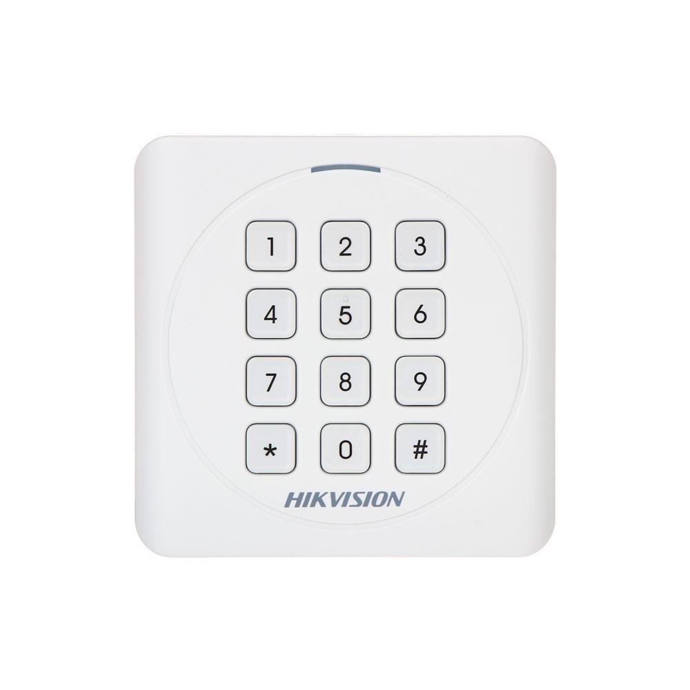 Cititor de proximitate cu tastatura RFID Hikvision DS-K1801EK, EM, 125 KHz, interior/exterior